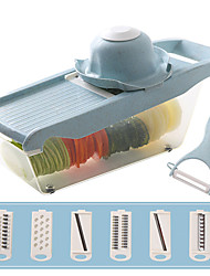 halpa -Ruostumaton teräs ja muovi Peeler & Grater Multi-Functional Creative Kitchen Gadget Keittiövälineet Työkalut Monikäyttö hedelmien vihannesten 1set