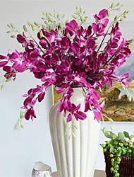 Недорогие -Искусственные Цветы 5 Филиал Односпальный комплект (Ш 150 x Д 200 см) Свадьба Простой стиль Орхидеи Букеты на стол
