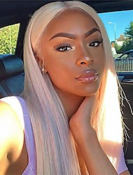 cheap -Synthetic Wig / Synthetic Lace Front Wig Straight / Jerry Curl Style with Baby Hair Lace Front Wig Black Light Blonde Synthetic Hair 26inch Women's Classic / Synthetic / Fashion Black / Blonde Wig