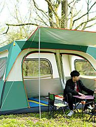 Недорогие -Sheng yuan 8 человек Семейный кемпинг-палатка На открытом воздухе С защитой от ветра Дожденепроницаемый Воздухопроницаемость Двухслойные зонты Карниза Палатка 2000-3000 mm для