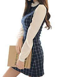 저렴한 -여성용 우아함 칼집 드레스 - 솔리드 줄무늬 무릎 위