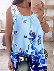 billige -T-skjorte Dame - Geometrisk, Trykt mønster
