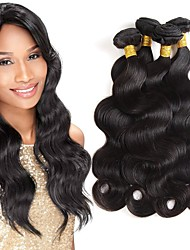 abordables -Lot de 4 Cheveux Brésiliens Ondulation naturelle Cheveux Naturel Rémy Tissages de cheveux humains Bundle cheveux One Pack Solution 8-28 pouce Couleur naturelle Tissages de cheveux humains Doux Cool