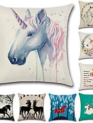 abordables -8.0 pcs Coton / Lin Taie d'oreiller, Nouveauté Animal Citations & Dictons Style artistique Style européen