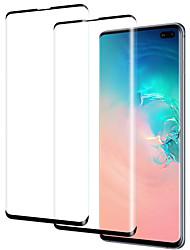 Недорогие -Samsung GalaxyScreen ProtectorGalaxy S10 Уровень защиты 9H Защитная пленка на всё устройство 2 штs Закаленное стекло