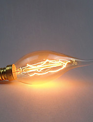 رخيصةأون -1PC 40 W E14 C35 أصفر الجسم شفافة المتوهجة خمر اديسون ضوء لمبة 220-240 V