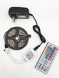 Недорогие -Brelong 5050 DC12V 5м 300led светлая полоса с 44 ключами дистанционного управления голая плата не является водонепроницаемой RGB с источником питания