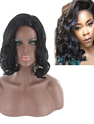 cheap -Synthetic Wig Body Wave Style Bob Capless Wig Black Natural Black Synthetic Hair 14INCH Women's Adjustable / Heat Resistant / Classic Black Wig Short