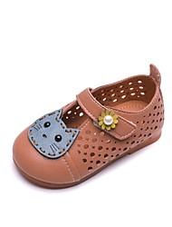 halpa -Tyttöjen Kengät Mikrokuitu Kesä Comfort / Ensikengät Sandaalit varten Vauvat Beesi / Pinkki