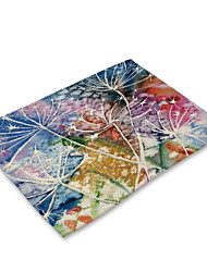 cheap -Contemporary Nonwoven Square Placemat Floral Eco-friendly Table Decorations 1 pcs