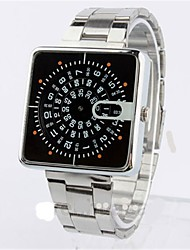cheap -Men's Dress Watch Quartz Black Casual Watch Large Dial Digital Casual Fashion - Black