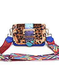 رخيصةأون -نسائي أكياس PU حقيبة الكتف جلد الثعبان أزرق / أسود