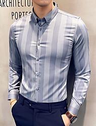 economico -Camicia Per uomo Collage, A strisce