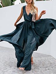 Недорогие -Жен. Шифон Платье Глубокий V-образный вырез Макси
