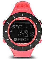 Недорогие -Жен. Спортивные часы На открытом воздухе Мода Черный Pезина Японский Цифровой Черный / серебряный Защита от влаги Smart Bluetooth 100 m 1 комплект Цифровой Один год Срок службы батареи / ЖК экран