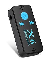 Недорогие -Ziqiao x6 адаптер bluetooth-приемник авто автомобиль bluetooth aux kit поддержка tf карта a2dp аудио стерео bluetooth-приемник handfree