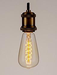 abordables -1pc 60 W E26 / E27 ST64 Jaune corps Transparent Ampoule incandescente Edison Vintage 220-240 V