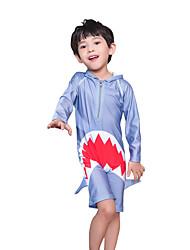 cheap -JIAAO Boys' One Piece Swimsuit UV Sun Protection Ultra Light (UL) Wearable Chinlon Swimwear Beach Wear Bodysuit Patchwork Swimming Surfing