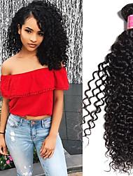 abordables -Lot de 4 Cheveux Brésiliens Kinky Curly Cheveux Vierges Naturel Tissages de cheveux humains Bundle cheveux One Pack Solution 8-28 pouce Couleur naturelle Tissages de cheveux humains Saint-Valentin