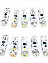 Недорогие -10 шт. T5 Автомобиль Лампы 0.5 W SMD 3014 80 lm 5 Светодиодная лампа Внутреннее освещение Назначение Универсальный Все года