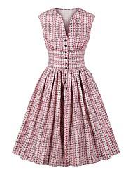billiga -kvinnor över knä en linje klänning rosa vit s m l xl