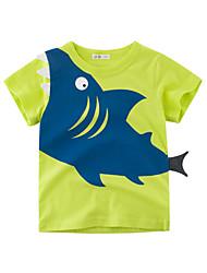 halpa -Lapset Poikien Perus Painettu Lyhythihainen Polyesteri T-paita Apila