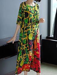 billige -kvinners maxi skift kjole grønn m l xl xxl
