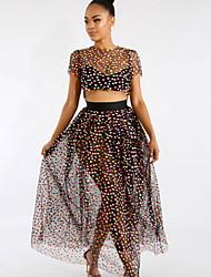 Недорогие -женское макси платье из двух частей черное с м л хл