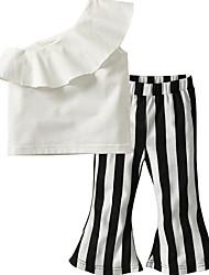 זול -סט של בגדים ללא שרוולים פסים בנות ילדים