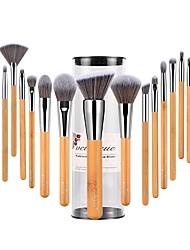 Недорогие -профессиональный Кисти для макияжа 18pcs Мягкость Закрытая чашечка синтетический Кисть из синтетических волокон Бамбук за