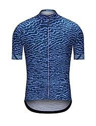Недорогие -Муж. С короткими рукавами Велокофты Синий камуфляж Велоспорт Джерси Верхняя часть Виды спорта Терилен Одежда / Эластичность
