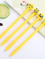 Недорогие -Пластиковый корпус Желтый 12шт Гелевая ручка 16.3*12*1 cm