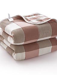 baratos -Confortável - 1 Cobertura de Cama / 1 Colcha Primavera / Verão Algodão Xadrez / Quadrados / Estampa Colorida / Cores Variadas