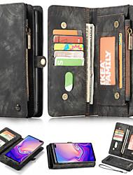 Недорогие -Кейс для Назначение SSamsung Galaxy S9 / S9 Plus / S8 Plus Кошелек / Бумажник для карт / со стендом Чехол Однотонный Твердый Кожа PU