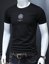 economico -t-shirt da uomo - lettera girocollo