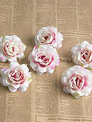 abordables -Fleurs artificielles 6 Une succursale Classique Européen Fleurs de mariage Roses Fleurs éternelles Fleur de Table