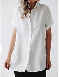 お買い得  -女性用 シャツ ソリッド ピンク XXL