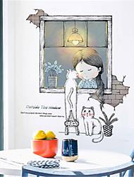 Недорогие -детская комната теплые самоклеящиеся обои наклейки девушка украшения комнаты прикроватный фон наклейки на стены общие обои самоклеящиеся