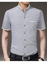 billige -Herre - Ensfarvet Skjorte Hvid XXXL