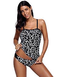 ราคาถูก -สำหรับผู้หญิง ชุดว่ายน้ำ Rashguard การป้องกันรังสียูวี แห้งเร็ว สวมใส่ได้ ไนลอน เสื้อไม่มีแขน ชุดว่ายน้ำ ชุดสำหรับไปชายหาด ชุดว่ายน้ำ ลายต่อ การว่ายน้ำ / ยืด