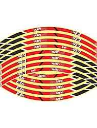 Недорогие -16шт новый 17/18/19 дюймов мотоцикл светоотражающие наклейки на ступицы колеса авто декоры наклейки на колеса на стайлинг автомобиля
