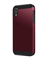 olcso -BENTOBEN Case Kompatibilitás Apple iPhone XR Ütésálló / Galvanizálás Fekete tok Egyszínű Kemény PU bőr / TPU mert iPhone XR