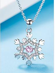 baratos -Mulheres Colares com Pendentes Prateado Prata Rosa claro 45 cm Colar Jóias 1pç Para Casamento Noivado Presente