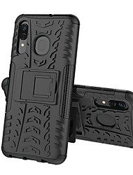 Недорогие -Кейс для Назначение SSamsung Galaxy A5(2018) / A6 (2018) / A6+ (2018) Защита от удара / со стендом Кейс на заднюю панель броня Твердый ПК