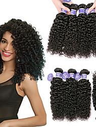 Недорогие -6 Связок Бразильские волосы Kinky Curly 100% Remy Hair Weave Bundles Головные уборы Человека ткет Волосы Пучок волос 8-28 дюймовый Нейтральный Ткет человеческих волос / Без запаха