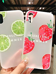 cheap -Case For Apple iPhone X / iPhone XS Max Frosted / Pattern Back Cover Food Soft Silica Gel for iPhone XS / iPhone XR / iPhone XS Max