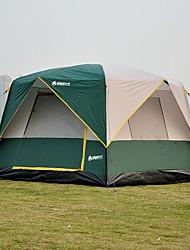 Недорогие -5 человек Семейный кемпинг-палатка На открытом воздухе С защитой от ветра Дожденепроницаемый Пригодно для носки Двухслойные зонты Карниза Палатка 1500-2000 mm для