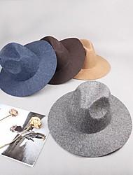 baratos -Misto de Lã / Feltro de lã Decoração de Cabelo / Gorro com Boné / Cor Única 1 Peça Casamento / Roupa Diária Capacete