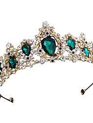 Χαμηλού Κόστους -Κράμα Τιάρες με Τεχνητό διαμάντι 1 Τεμάχιο Γάμου / Ειδική Περίσταση Headpiece