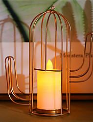 Недорогие -новинка светодиодный свет свеча свет железный треугольник кактус стиль девушка белый подарок спальня украшение настольная лампа аккумулятор